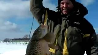 Карп зимой ловля на блесну