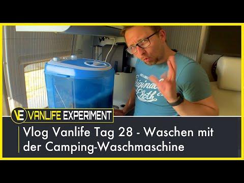 Vlog Vanlife Tag 28 - Waschen mit der Camping Waschmaschine!