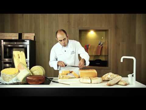 Cómo cortar Quesos y Pan con Cuchillos 3 Claveles