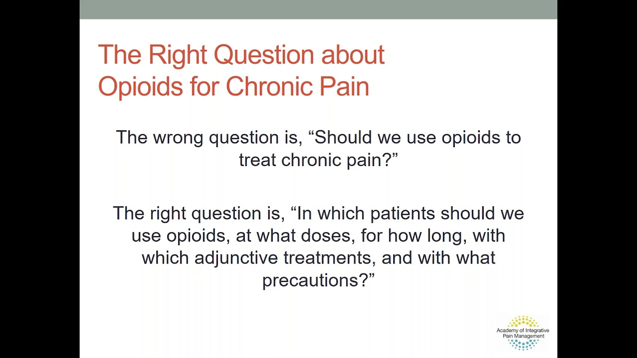 Solutions in a Time of Crisis: Ensuring Safe and Effective Pain Relief through Good Policy and Practice