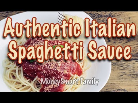 How to make authentic Italian spaghetti sauce (gravy) from scratch - A 4th Generation Recipe