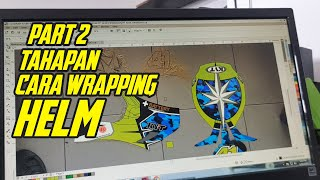 Cara Wraping decal stiker helm fullface ala motoblast | Part 2|