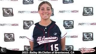 2022 Bailey McClellan Catcher and Third Base Softball Player Skills Video - AASA Pikas