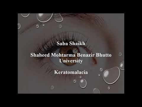 "Eye Health Care Video ""OcularDDtalks"", Dr.Saba Sheikh, Keratomalacia, Shaheed Mohtarma BB Uni"