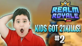 KID GOT 21KILLS IN SOLO GAME!?! - Realm Royale Daily Moments Ep.2 (Battle Royale)