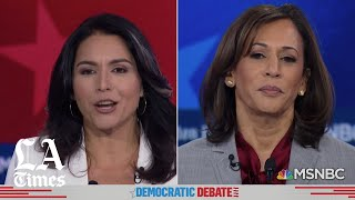 Harris goes after Gabbard over the congresswoman's criticism of the Democratic Party