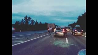 Авария на Минском шоссе под Кубенкой 25.06.17