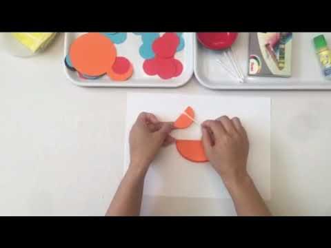 Hướng dẫn trẻ tạo hình con gà trống từ những hình tròn