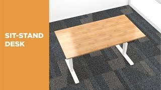 M06-23R Dual Motor Electric Sit-Stand Desk (Reversed) Features Video