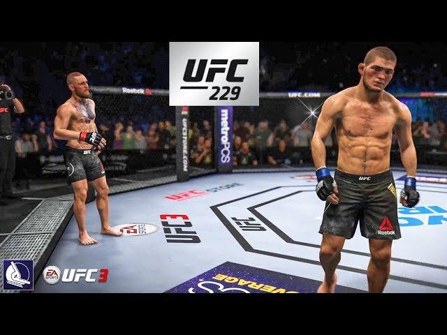 Ea Sports Ufc 3 Conor Mcgregor Vs Khabib Nurmagomedov 229 Championship Fight Simulation