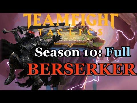 TFT - Full Berserker Team Gameplay