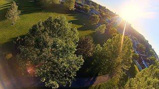 FPV - Fast Flying Tree Gaps - NUKE Meetup - 4 Flights - Racing Drone - Heritage Park Farmington Utah