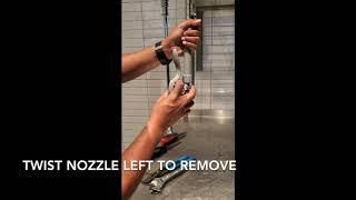 Debris in Beverage Filler Nozzle