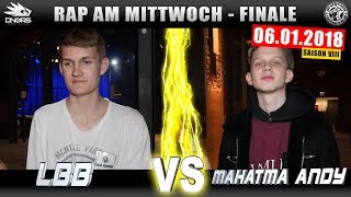 RAP AM MITTWOCH LEIPZIG: LBB Vs MAHATMA ANDY  06.01.18 BattleMania Finale (44) GERMAN BATTLE