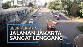 Hari Pertama Libur akibat Virus Corona Jalanan di Jakarta Sepi dan Lenggang