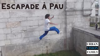 preview picture of video 'Urban Vision Family - Escapade à Pau (France) [Parkour & Free running]'