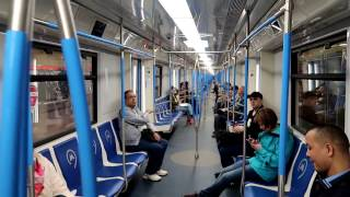 "New 81-765 ""Moscow"" metro train, Line 7"