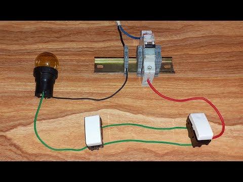 حلقة 3 - الدوائر الكهربائية للمبتدئين  - كيفية التحكم فى مصباح من مكانين مختلفين - دائرة الديفيار