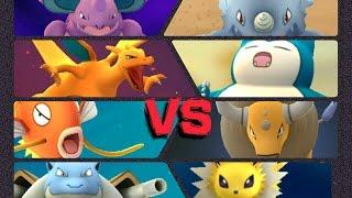 Cloyster  - (Pokémon) - Pokémon GO Gym Battles 5 Gym Takeovers Magikarp Tauros Jolteon Cloyster Charizard Blastoise & more
