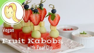 Fruit Kabobs With Pear Dip (Happy Valentines Day)