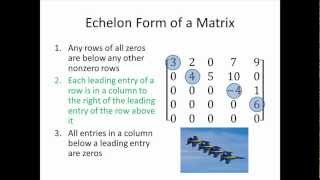 Elementary Linear Algebra: Echelon Form of a Matrix, Part 1