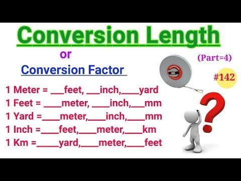 Conversion Factors   Conversion Units   Convertion Factors of Length   Meter, feet, yard, etc