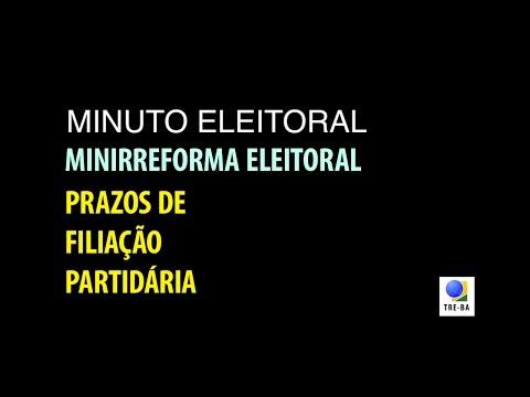 Minuto Eleitoral: Como fica o prazo para filiação partidária?