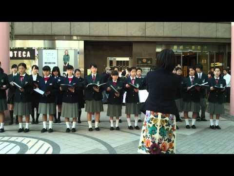 復興の詩プロジェクト2014 4/13 西多賀中学校合唱愛好会 Ami Choeur 【桜の季節】【わせねでや】他