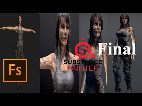 Realistic Game Character creation LARA CROFT in (Fuse & substance painter)