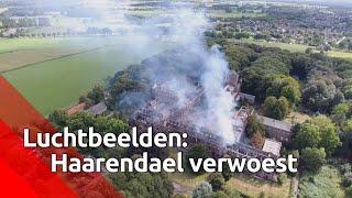 Gebouwen landgoed Haarendael in Haaren grotendeels verwoest door brand.