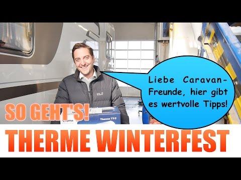 Wohnwagen im Winter. Therme winterfest machen. Schäden vermeiden. Bares Geld sparen.