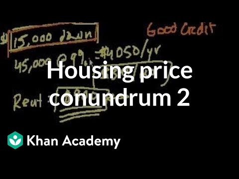 Housing price conundrum (part 2) (video) | Khan Academy