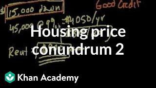 Housing price conundrum (part 2)