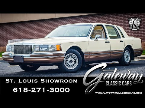 Video of 1990 Town Car - $16,500.00 Offered by Gateway Classic Cars - St. Louis - QB8G