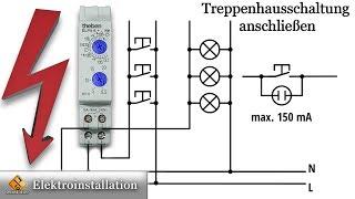 Treppenhausschaltung Anschließen / Theben ELPA 6 plus Treppenlicht , Zeitschalter, elektronisch