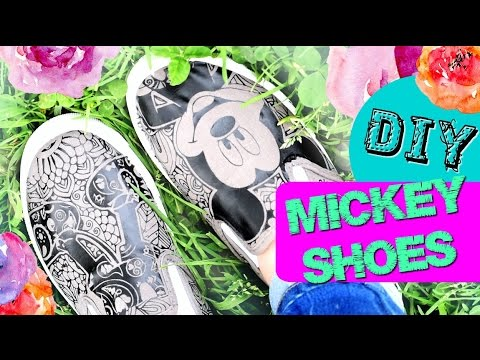 DIY Trendy Iron On Mickey Shoes