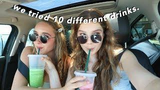 Trying my Subscribers Starbucks Drinks!!!