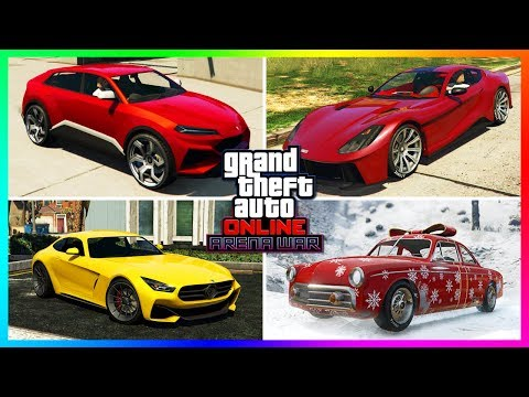 GTA Online Arena War DLC Update - ALL Unreleased Cars, NEW Vehicles, Christmas 2018 Content & MORE!
