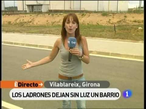 Robatori de cable a Vilablareix, Girona