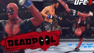 Deadpool Is Cartwheel Kicking Everyone! Trolling The UFC - EA Sports UFC 3 Gameplay