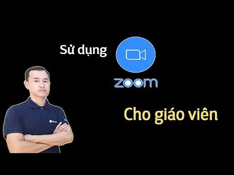 Hướng dẫn sử dụng phần mềm Zoom tạo phòng học trực tuyến cho giáo viên