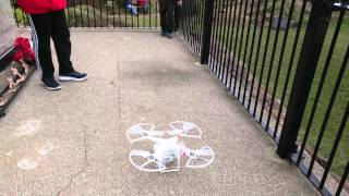 preview picture of video 'DJI Phantom 2 Vision+ Drone Take off In West Kirby Grange Hill War Memorial'