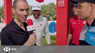 HSBC Sport | USA vs Europe: Incredible Golf Accuracy Challenge ft Johnson, Kuchar, Stenson and Rose - dooclip.me