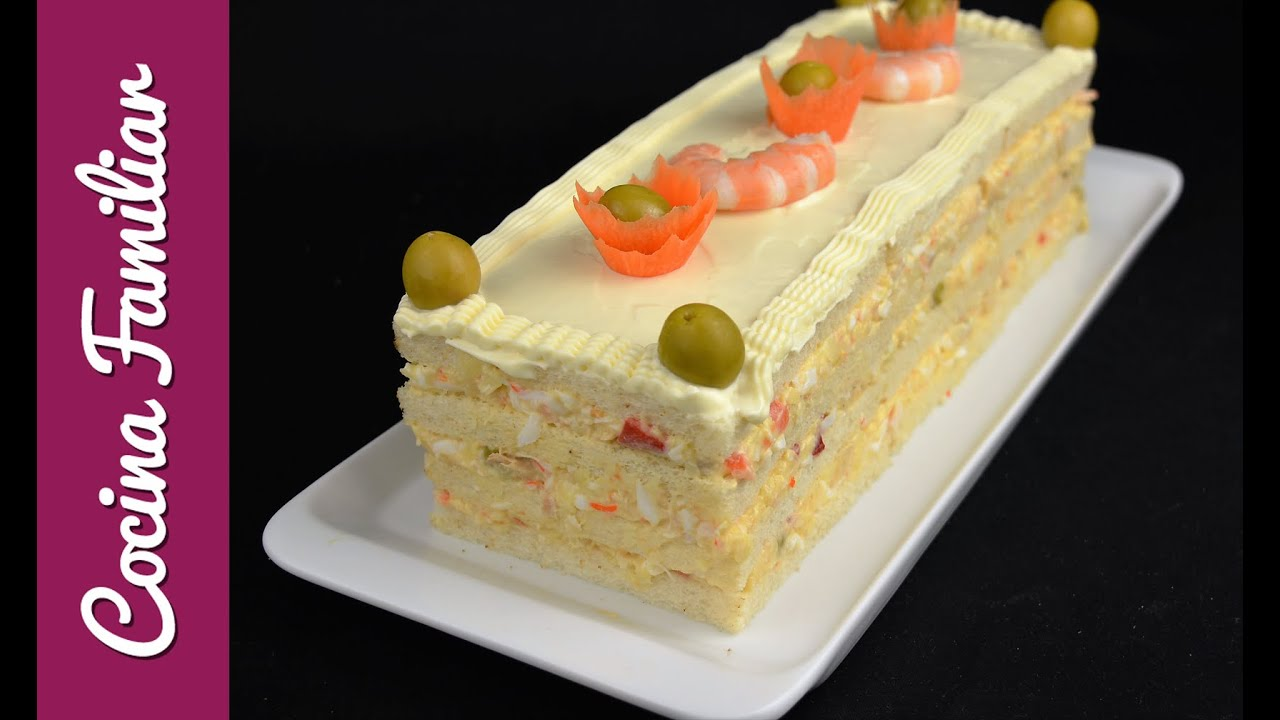 Pastel de ensaladilla con pan de molde | Javier Romero