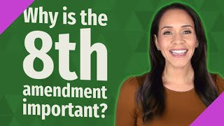 Why is the 8th amendment important?