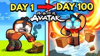 I Survive 100 DAYS in Avatar the Last Airbender! (Minecraft)
