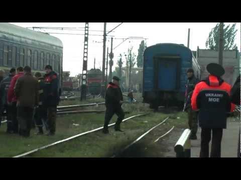 Ukraine. Zaporozhye region: four carriages derailed