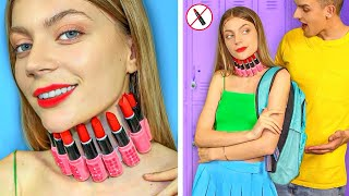 Weird Ways to SNEAK MAKEUP INTO CLASS! Funny Ideas to SNEAK ANYTHING ANYWHERE by Mr Degree