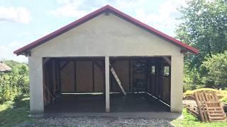 Garaż konstrukcji drewnianej