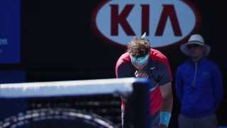 Rafa Nadal's routines - 2014 Australian Open